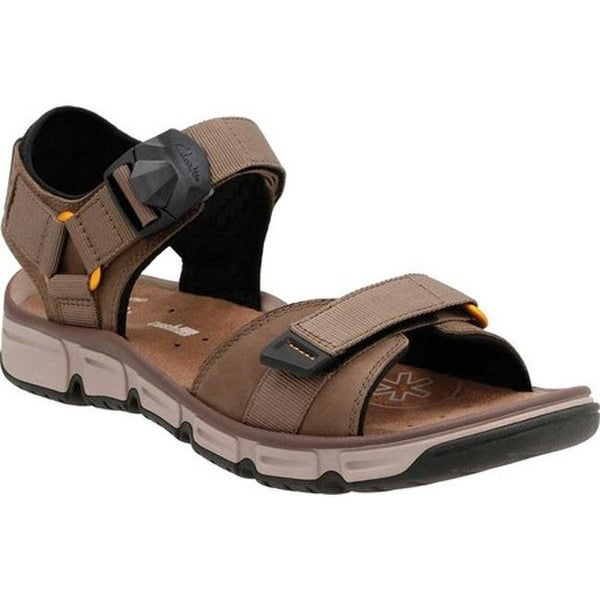 Illinois Sabroso Lujoso  Shop Clarks Men's Explore Part Walking Sandal Mushroom Nubuck Leather -  Overstock - 14236984