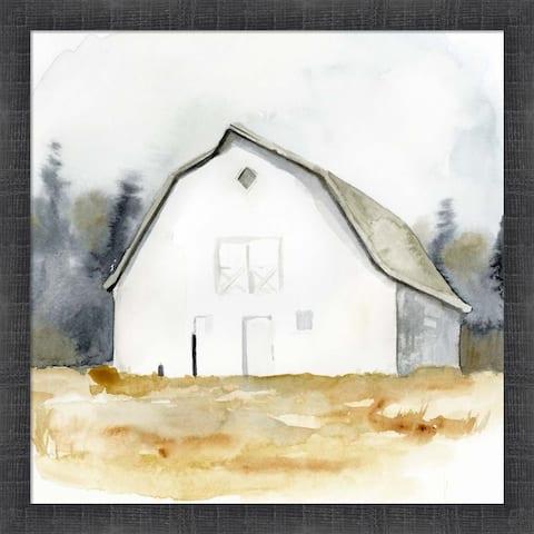 Victoria Barnes 'White Barn Watercolor III' Framed Art