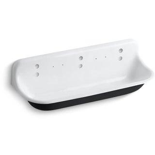 "Kohler K-3203 Brockway 60"" Wall Mounted Trough-Style Sink with 6 Deck Holes"