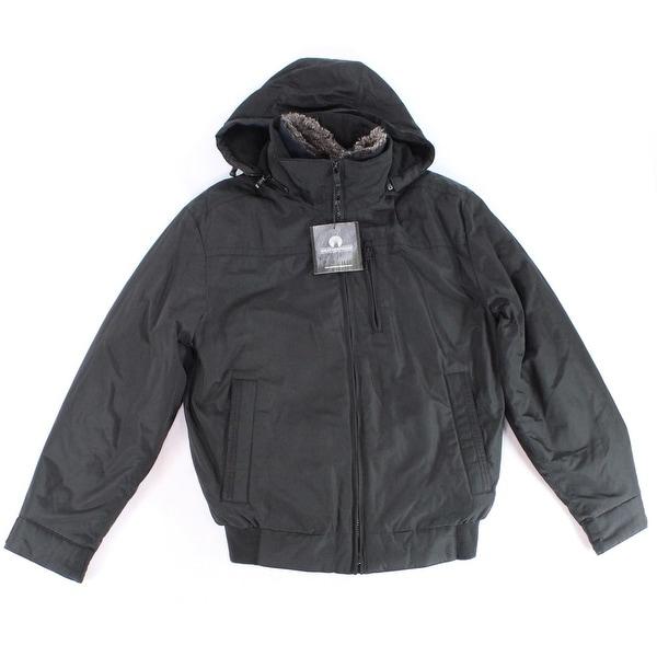 70180e2b7 Weatherproof Black Mens Size Small S Hooded Windbreaker Jacket