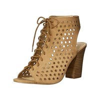 Sbicca Womens Piccolo Dress Sandals Leather Lace Up