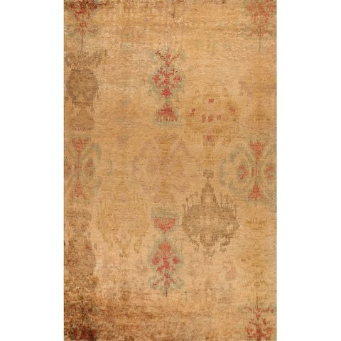 """Abstract Contemporary Oriental Dining Room Area Rug Handmade Carpet - 9'8"""" x 12'8"""""""