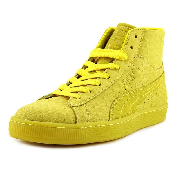 Puma Suede Mid ME Iced Men Round Toe Suede Yellow Sneakers