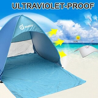 Anti-UV Pop up Instant C&ing Tent 2 Person Portable Automatic Beach Tent 43   sc 1 st  Overstock.com & Tents u0026 Outdoor Canopies For Less | Overstock.com