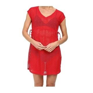 Prana NEW Red Cherry Women's Size XL Sheer Cover-Up Swimwear