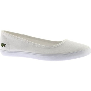6819827d0 Shop Lacoste Women s Marthe BL 1 Ballet Flat White Canvas - On Sale - Free  Shipping Today - Overstock - 20713880