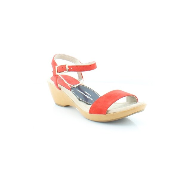 White Mountain Corky Women's Sandals & Flip Flops Red