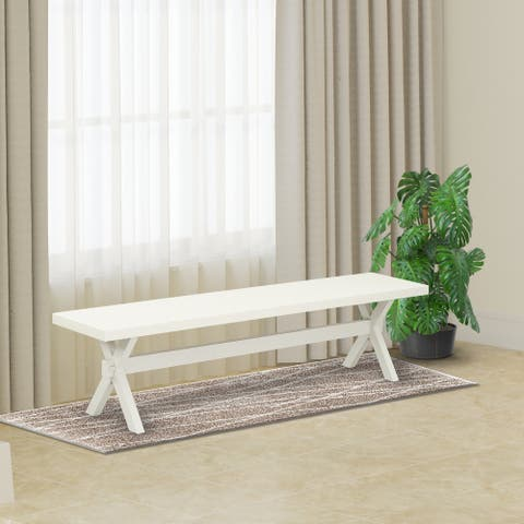 East West Furniture Attractive color bench top surface and a wonderful 4 legs X Style in many finish option solid wood - 72