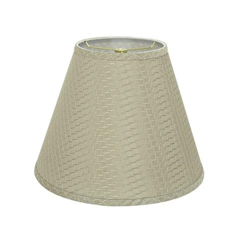 "Aspen Creative Hardback Empire Shaped Spider Construction Lamp Shade in Sand Yellow (7"" x 14"" x 11"")"