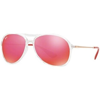 Ray-Ban Alex 59mm Sunglasses (Clear Frame/Red Flash Lens)