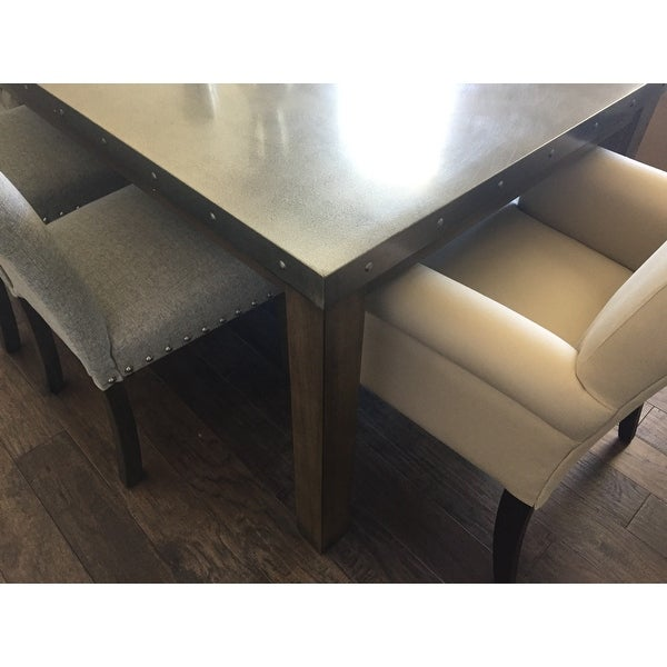 Genial Shop Cassidy Stainless Steel Top Rectangle Dining Table By INSPIRE Q  Artisan   On Sale   Free Shipping Today   Overstock.com   13620200