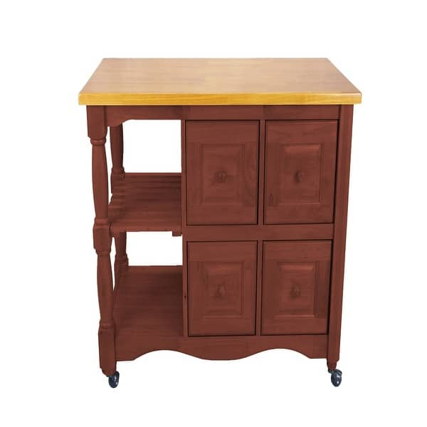 11 25 Light Brown Oak And Nutmeg Sunset Trading Regal Kitchen Cart On Sale Overstock 31771371