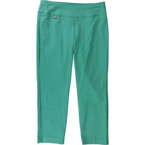 Alfani Womens Tummy Control Capri Casual Trouser Pants, green, 6