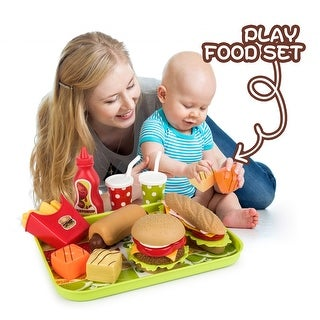 Link to Children Kids Play Food Set, Removable Pretend Play Kitchen Set Similar Items in Pretend Play