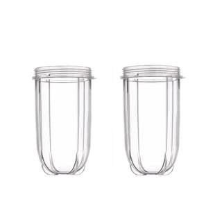Blendin 2 Pack Replacement 16oz Tall Jar Cups,Fits Original Magic Bullet Blender Juicer