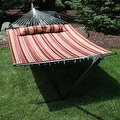 Sunnydaze 2-Person Quilted Hammock with Spreader Bars and Detachable Pillow - Hammock Stand Included - Thumbnail 44