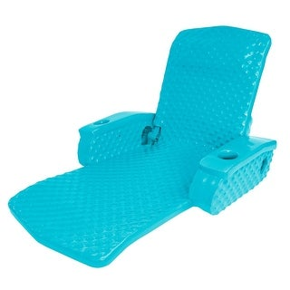 Tropical Teal Super Soft Adjustable Recliner Swimming Pool Lounge Chair - Blue