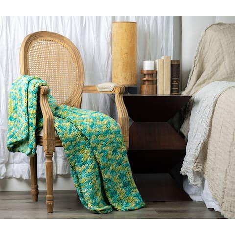Cottage Home Maddison Wool Acrylic Blend Throw Blanket