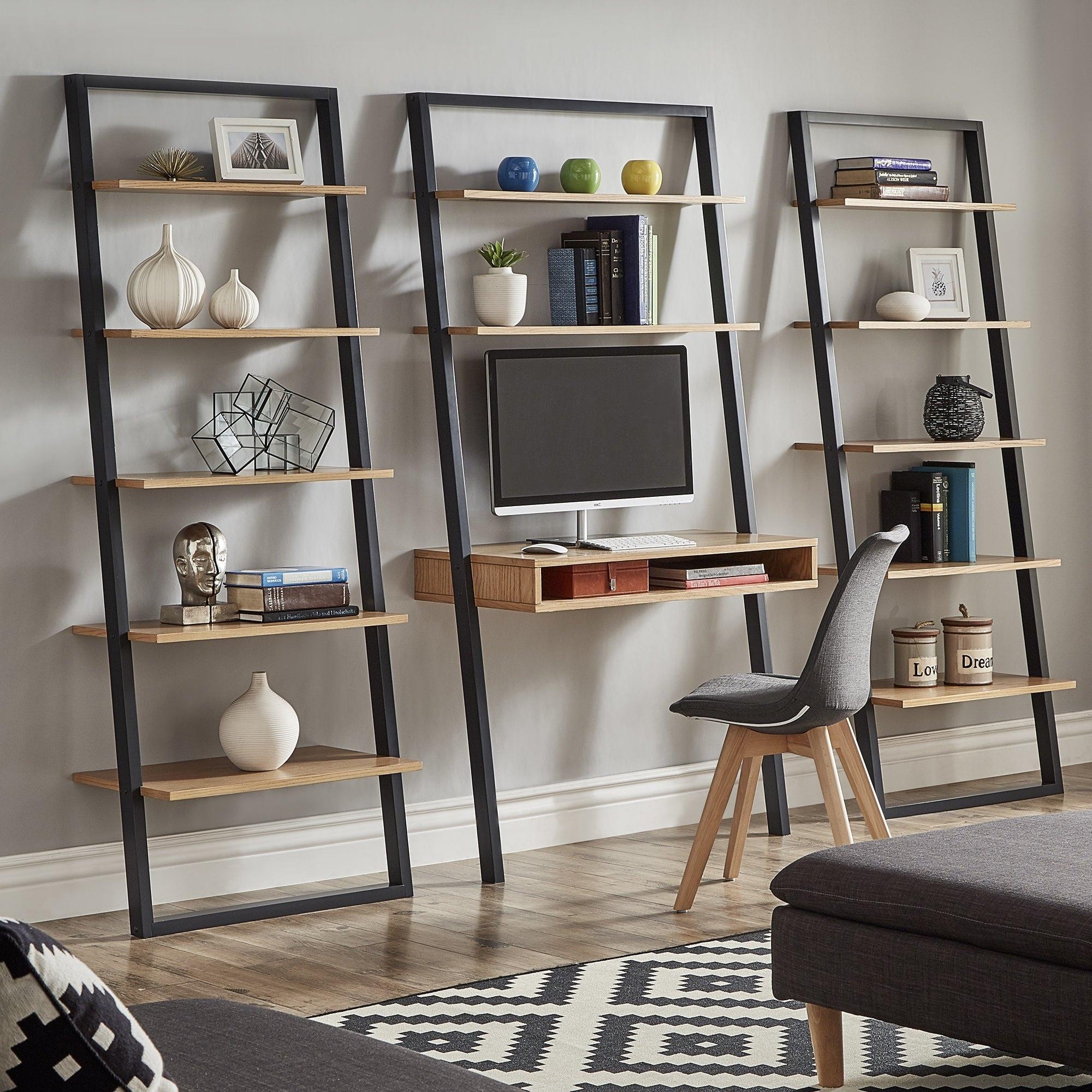 Ranell Leaning Ladder Shelves By Inspire Q Modern Overstock 16489724