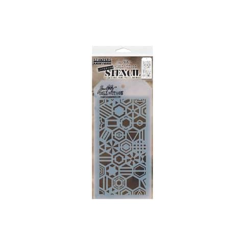 Ths125 stampersa layering stencil tholtz patchwork hex