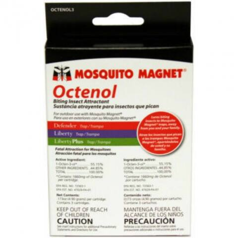 Mosquito Magnet OCTENOL3 Octenol Cartridge, 3-Pack