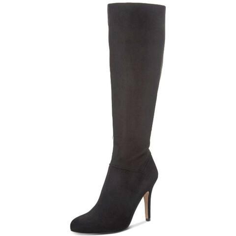 INC International Concepts Womens taisa Fabric Pointed Toe Knee High Fashion Boots