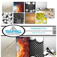 """Reminisce Collection Kit 12""""X12""""-Volleyball 2"""
