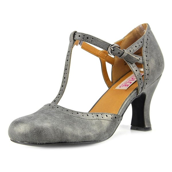 Dolce by Mojo Moxy Lotus Women Round Toe Synthetic Gray Bootie
