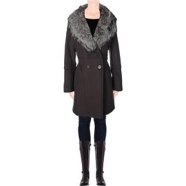 Elie Tahari Womens Kaden Wool Double Breasted Pea Coat - 12