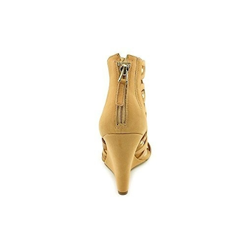 GUESS Womens Jily Open Toe Ankle Strap Wedge Pumps