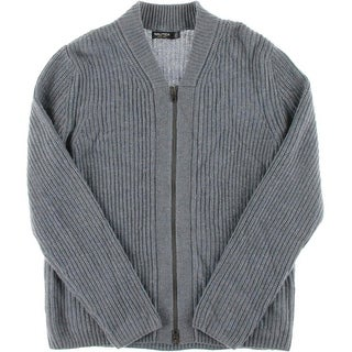 Nautica Mens Wool Blend Cable Knit Cardigan Sweater