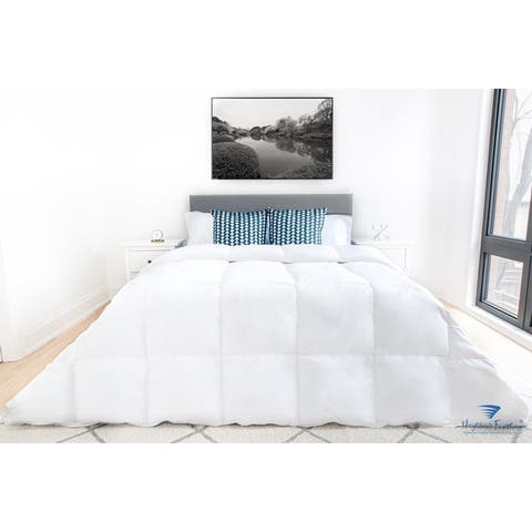 Highland Feather 600 Loft White Down Cordoba Duvet/Comforter Summer Fill 233TC Casing with Corner Ties