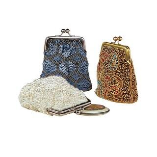 Catalog Classics Women's Beaded Kiss Lock Clasp Bags - Decorative Coin Purses - One size