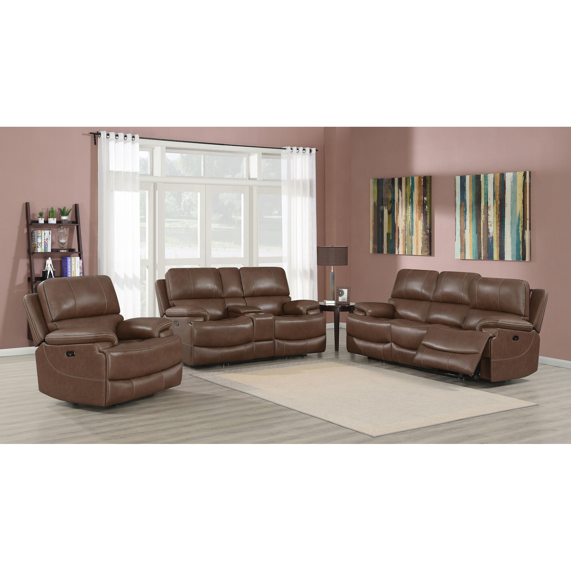 Gavin Saddle Brown 2 Piece Pillow Top Arms Living Room Set On Sale Overstock 32235774