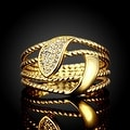 Gold Anchor Inspired Ring - Thumbnail 1