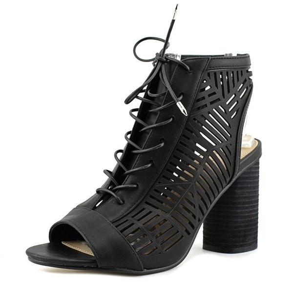 Sam Edelman Rocco Women Peep-Toe Synthetic Black Bootie