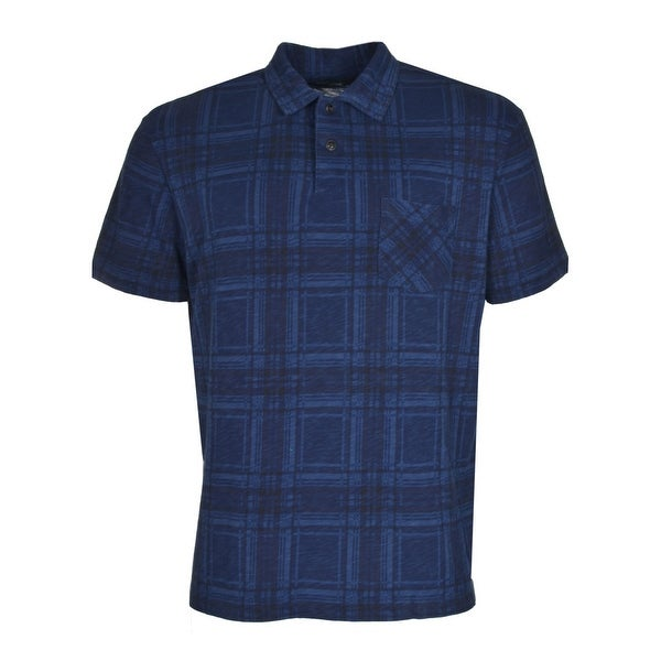 ec34363a Shop POLO RALPH LAUREN RL Cotton Polo Shirt Large L Navy Blue and Black  Plaid - Free Shipping Today - Overstock - 20349534