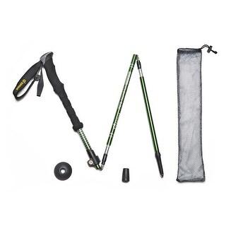 4PCS Folding Telescoping Trekking Pole Alpenstocks Ultralight Adjustable Hiking Stick
