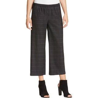 Eileen Fisher Womens Wide Leg Pants Flannel Plaid