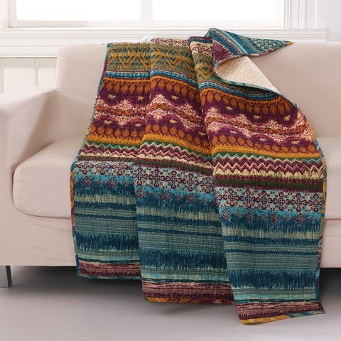 Greenland Home Fashions Southwest Quilted All Cotton Throw Blanket