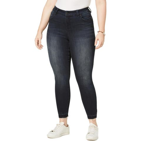 Celebrity Pink Womens Plus Ankle Jeans Denim Mid-Rise