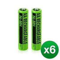 Replacement Panasonic KX-TGE234B NiMH Cordless Phone Battery - 630mAh / 1.2v (6 Pack)