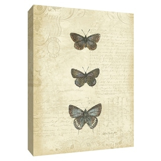 """PTM Images 9-154898  PTM Canvas Collection 10"""" x 8"""" - """"Botanical Butterflies II"""" Giclee Butterflies Art Print on Canvas"""