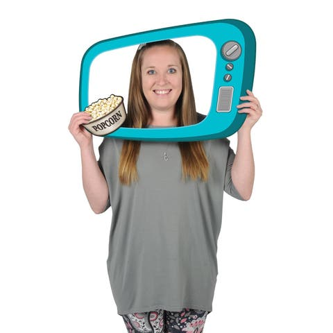 "Club Pack of 12 1950's TV Digital Photo Fun Frame with Handheld Props 23.5"" - N/A"
