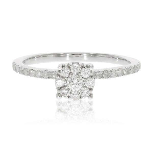 Prism Jewel 0.38Ct Round G-H/I3-PK Natural Diamond Engagement Ring