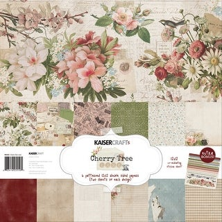 "Kaisercraft Paper Pack 12""X12"" 12/Pkg-Cherry Tree Lane"