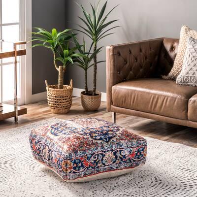 nuLOOM Handmade Floral Boho Floor Cushion