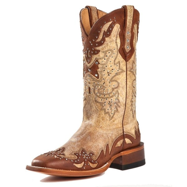 fa2a3ee4885 Shop Johnny Ringo Western Boots Womens Cowboy Cognac Tan - Free ...
