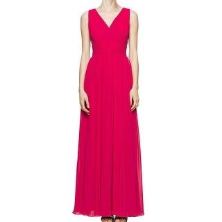 Calvin Klein NEW Pink Women's Size 4 Surplice Empire Waist Maxi Dress