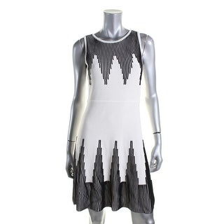 Calvin Klein Womens Petites Textured Sleeveless Wear to Work Dress